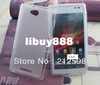 For Sony Ericsson TPU Yes DHL FREE SHIPPING, 200 pcs lot , High Quality Pudding TPU Case for Sony Xperia C Sony S39H C2305 many colors