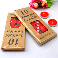 Wholesale String hi birthday candles smokeless candles Hotel Romance Package grams of tea red candle wax
