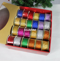 Wholesale Christmas tree ornaments ribbon upscale gilded decorations snowflake ribbon bow with holiday gifts