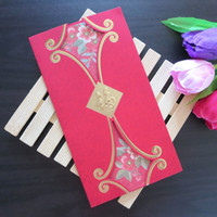 Birthday Cards Sample Retail New style New style gilt - grade creative New Year greeting card envelopes business cards Chinese New Year red card Fairview wind