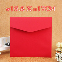 April Fool's Day Mai Kaka Fold Daishin Fang big red envelope pure red square 16.5 * 17CM