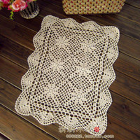 Wholesale Fast fashion Handmade hook needle crotch dining table cloth cutout cotton multi purpose gremial placemat crochet sofa cover