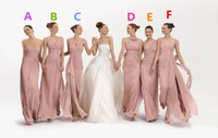Wholesale Sexy Pleated And Criss Cross Sweetheart Bridesmaid Dresses A Line Floor Length Chiffon Bridesmaid Gowns