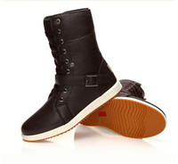 Wholesale Winter Mens Casual Leather Lace High Top Warm Military Hiking Ankle Boots Shoes Ying Lun Mading boots