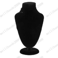 Wholesale Black Velvet Bust Necklace Jewellery Display Stand jewelry holder MYY7507