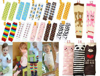 Wholesale Free Shiping pairs Kids Baby leggings baby knee leg warmers boys girls Knee set infant winter