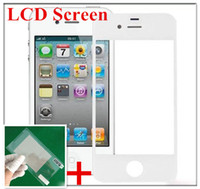 For Apple iPhone Touch Screen  Front Outer Glass LCD Screen Replacement Lens Repair Part Touch Screen Cover For Iphone 5 5s 4 4s Samsung Galaxy S4 S3 mini s2 + screen film