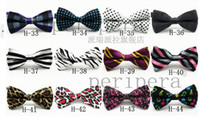 Wholesale hot men tie fashion tie New High Quality Novelty Mens Unique Tuxedo Bowtie Bow Tie Necktie office lady bow tie EMS FREE TO AUS