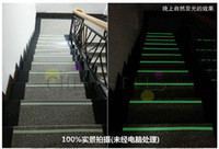 Wholesale 4cm M full luminous film tape stage decoration fire emergency glow tape fluorescence warning tape stairs Full luminous line