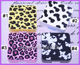 Wholesale lt Retail gt Fashion Leopard Print Design Contact Lens Case with Soaking Case Holder Box