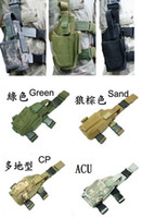airsoft leg holster - Tactical Combat Airsoft Paintball Movie Prop Survival War game Cosplay Nylon Constructed Velrco Drop Leg Pistol Holster Pouch