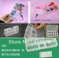 Plastic Bedding Eco Friendly Free Shipping cheap Multifunctional transparent plastic storage boxes can be combined freely organizer for Jewelry, pills,office