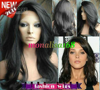 Wholesale Celebrity Hairstyle Beautiful quot quot Body Wave B Heat Friendly Swiss Lace Front Wigs