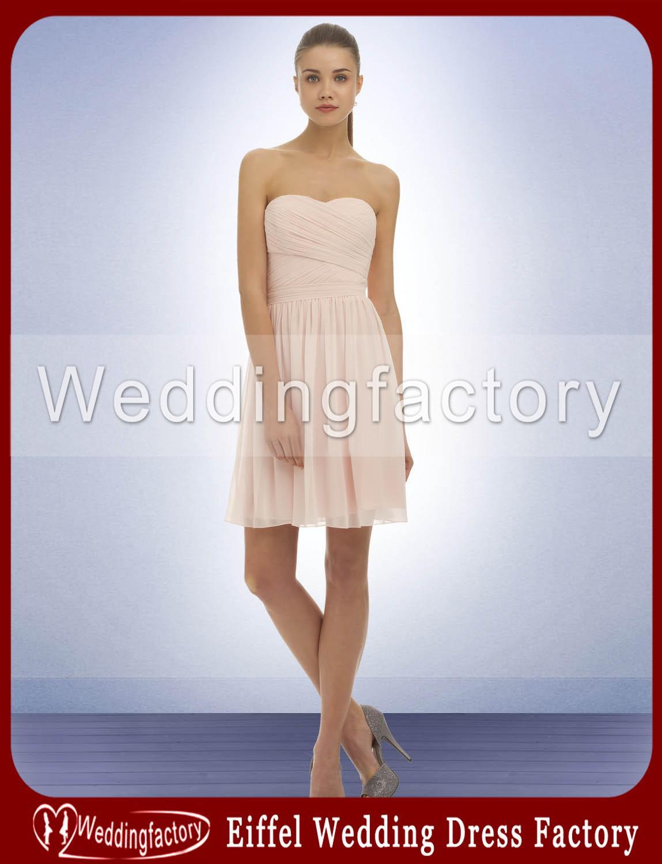 Blush China Bridesmaid Dresses A Line Strapless Soft