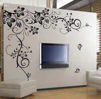 Wholesale Home Fashion Decorative PVC Wall Sticker Beautiful Flower Vinyl Wall Paper Decal Art Sticker for Living Room Bedroom Sofa TV Background