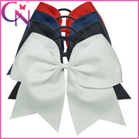 Wholesale Handmade quot Jumbo Cheer Bow Larger Hair Bow For Cheerleader Girls Ponytail Holder