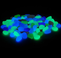 Wholesale 100 Colorful Stone glow in the dark photoluminescent resin stone Luminous stones noctilucent stone luminous aquarium goose stone