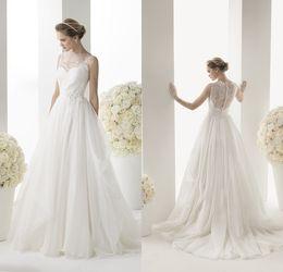 ... ligne longue robes de mariée Robes de mariée Non manches Vintage