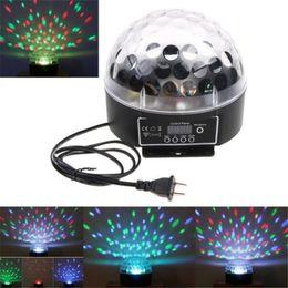 Mini Voice-activated Disco DJ Stage Lighting LED RGB Crystal Magic Ball 6CH DMX 512 light 20W KTV Party
