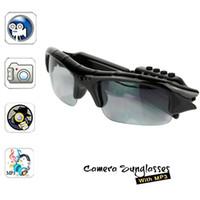 Wholesale New Sun Glasses Hidden Camera Video Recorder With MP3 Player TF Card Slot Mini DV DVR CCTV Camera spy sunglasses camera with mp3