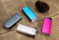 Wholesale 5200mah Metal Shell Mobile Phone Power Bank Emergency External Battery Charger panel USB for iphone S S Galaxy S3 S4