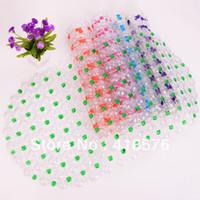 PVC Stripe Bedroom Free shipping cheap sale novelty household bathroom items 2013 PVC bead massage bath mat