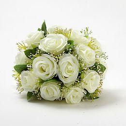 Wholesale Bridal Wedding Bouquets Wedding Bouquet Flowers Best selling Beautiful Elegant Round Shape Satin Wedding Bouquet