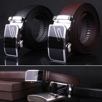 Wholesale Mens Trend Of Korean Crocodile Leather Automatic Buckle Belt GR56 Waistband Wide salebags