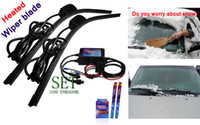 Wholesale New Arrival Heated Soft Frameless Car Windshield Wiper Blade Car heated wiper blade Soft Rubber heated Wiper Blade