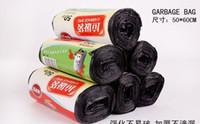 plastic trash bags - Hot sale Warming Clean up Refuse Black Plastic Garbage Rubbish Waste Trash Bags Rolls amp Drop Shipping