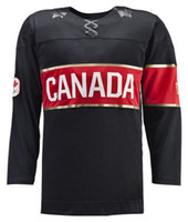 Wholesale Cheap Hockey Jersey Team Canada Sochi Winter Olympics Hockey Jersey Black blank all embroidery logo Discount Hockey Jerseys