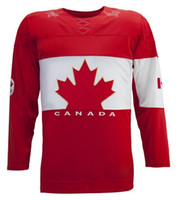 Wholesale Canada Olympics Blank Hockey Jersey Red Ice Hockey Jerseys High Quality Cheap Canada Jerseys New Arrival Popular Outdoor Sports Jersey