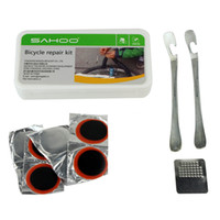 Wholesale New SAHOO Bike Repair Set Tool Bag Mini Pump Patch Kits Tire Lever for Bicycle W1006A
