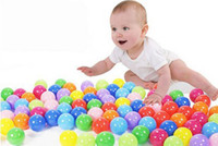 Wholesale 50Pcs cm Colorful Ball Fun Soft Plastic Ocean Ball Baby Kid Swim Pool Pit Toy