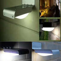 Wholesale Solar Powered Wall Lamp LED Wall Light Illuminate Garden Yard Lamp Waterproof Wireless Solar Motion Detection Sensor Light