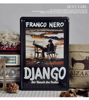 Wholesale 20 cm DJANGO FRANCO NERO Tin Sign Wall Poster Metal Painting Bar Decor