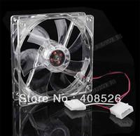 Wholesale Transparent mm Fans LED Blue for Computer PC Case Fans Cooling Transparent
