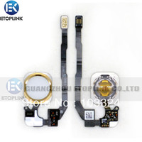 Wholesale Original New Home Button Flex with home botton complete for iPhone S GS Home Flex Cable Replacement