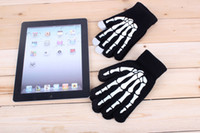 Wholesale Winter Gloves Knit Wool Skull Claw Skeleton Touch Screen Gloves for iPhone S iPad pairs