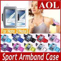 For Samsung Note2/Note3 Leather  Sport Arm Band Case GYM Armband Colorful Pouch Cover Strap Soft Belt Jogging Running Bag for Samsung Galaxy Note 3 N9000 Note 2 N7100