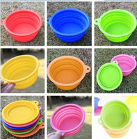 Wholesale Pet dog bowls collapsible silicone travel portable pet dogs cat food bowl dish feeders non toxic Water Bottle Pet Supplies factory price