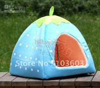 Wholesale Latest thickening Cute strawberry Nest multi function Yurts Dog House Pet kennel Cat Litter l