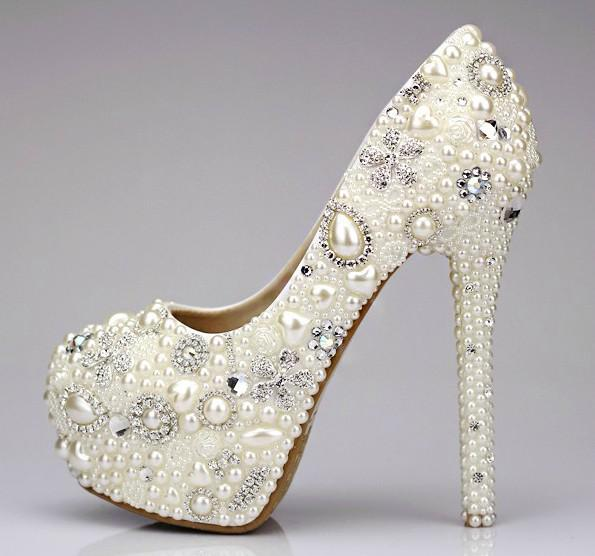 sweet pearl beaded toe s formal shoes