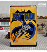 Wholesale 20 cm Vintage Signs Metal Poster BATMAN Retro Painting Home Decor