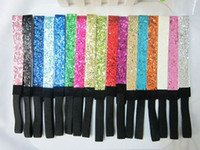 Wholesale DHL freeshipping colors Choice Mix colors Glittery Headband Glitter Stretch Sparkly Softball Sports Headband