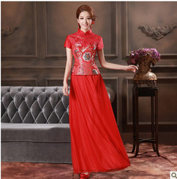 Wholesale 2013 The Chinese dress with short sleeves red Mother of the Bride Dresses