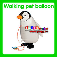 Multicolor balloons retail - Factory outlets and retail style helium Penguin walking balloon The style is available