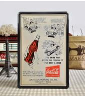 Wholesale 20 cm Coke Poster Tin Sign Bar Pub Decor Wall Metal Painting Home Decoration