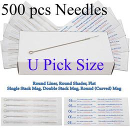 Wholesale Disposable Sterile Tattoo Needles Assorted Mixed Size Shader Liner For tattoo machine power supply