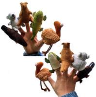 al por mayor felpa ornitorrinco-Mano marioneta de dedo de koala lindo canguro Platypus Emu cocodrilo Juguetes suave del regalo de cumpleaños de Navidad Juguete relleno felpa educativa del bebé